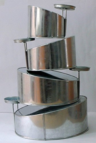 Mini Topsy Turvy 4 Tier Round Cake Pans Tins New Design By EuroTins 5'' 7'' 9'' 11''