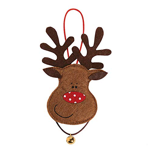 Fun Express Felt Reindeer Ornament Craft Kit for Kids - Makes 12