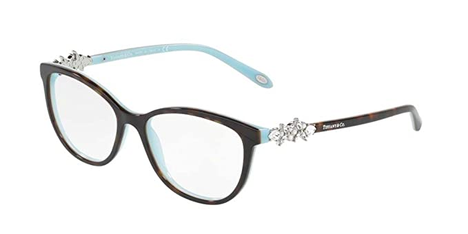 5002b6953650 Tiffany 0TF2144HB-8134 HAVANA BLUE -54mm women at Amazon Men s ...