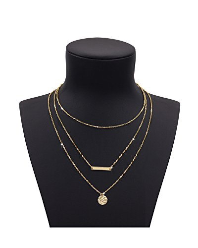 Ladies Gold Chains (Zealmer Ladies Multilayer Long Metal Chain Necklace Geometry Accessories Gold Color)