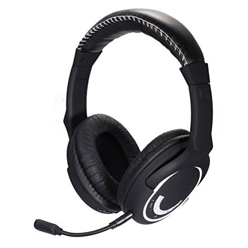 HAMSWAN 2.4GHz Wireless Gaming Headset for Xbox 360/PS3/PS4/WII/PC/Mac/TV Plug-in Mic Transmitter 33ft Noise Cancelling Compatible with Xbox One (If you have an adaptor of Microsoft or Kinect)