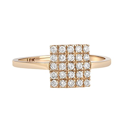 Square Shape Diamond Accented Ring - 2