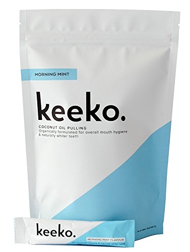 Keeko - 100% Natural / Organic Oil Pulling Sachets (Morning Mint) (14 Packets (2 Week Course))