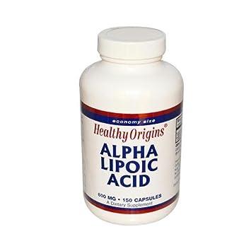 Healthy Origins, ácido alfa lipoico, 600 mg, 150 Cápsulas: Amazon.es: Salud y cuidado personal