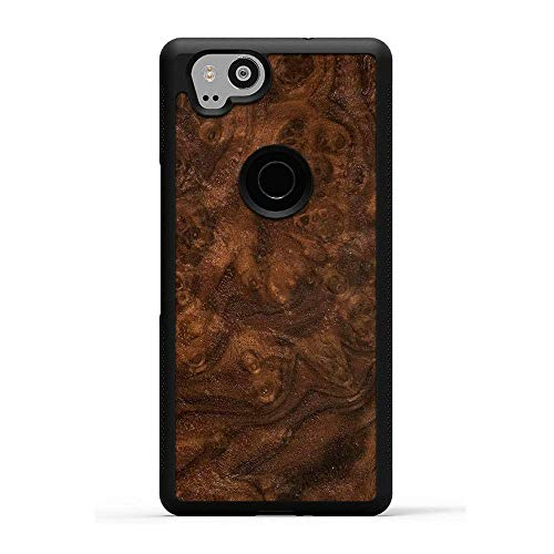 Carved | Google Pixel 2 | Luxury Protective Traveler Case | Unique Real Wooden Phone Cover | Rubber Bumper | Walnut Burl