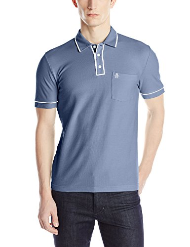 China Blue Apparel (Original Penguin Men's Earl Pique Polo Shirt, China Blue, Small)