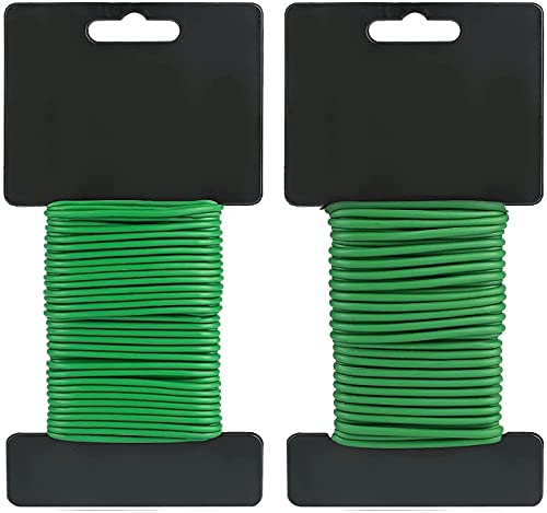 Garden Wire Twist Tie for Supporting Plants, Soft Plant Ties 2 Pack 59FT Rubber Garden Tie for Vine Plant, Flowers, Tomato, Trelli, Cucumber, Orchid and Home organizing