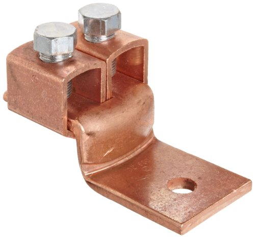 Morris Products 90536 Double Offset Mechanical Connector, Copper, 800A Rating, 1/0 - 500mcm Wire Range 500mcm Cable