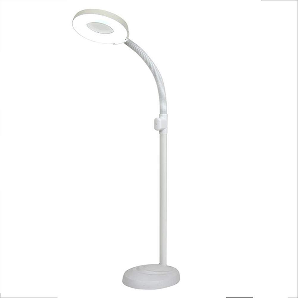 LEDフロアランプ、LEDエステティシャンライト、ライト付き8X拡大鏡、読書用照明付き拡大鏡