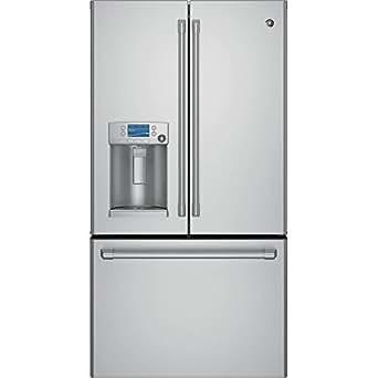 GE CYE22TSHSS Cafe 22.1 Cu. Ft. Stainless Steel Counter Depth French Door Refrigerator - Energy Star