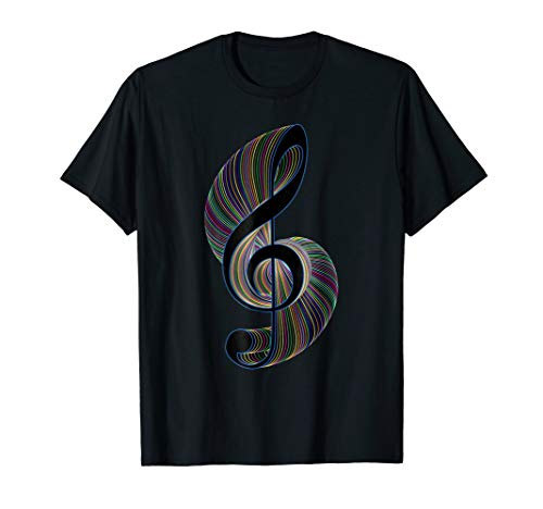 Treble Clef T-Shirt - Clorful Music Design ()