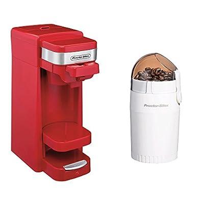 Proctor Silex FlexBrew Single Serve Coffee Machine Maker w/ Coffee Bean Grinder