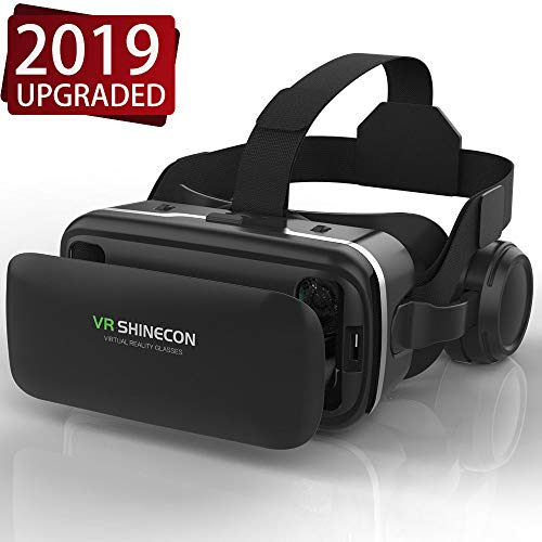 VR Headset,Virtual Reality Headset,VR SHINECON 3D Glasses for TV, Movies & Videal o Gam VRes - VirtuReality Glasses VR Goggles for iPhone, Android and Other Phones Within 4.7-6.0 inch
