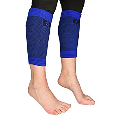 2 Professional Calf Compression Sleeves By Susama - 1 Size Fits All - Best for Shin Splints and Varicose Veins Relief. Footless Support Stockings for Men and Women - Great Calf and Leg Brace Wraps