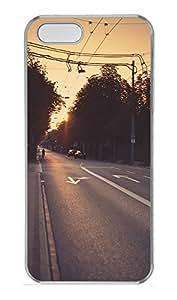 iPhone 5 5S Case Urban Exploration Dusk PC Custom iPhone 5 5S Case Cover Transparent