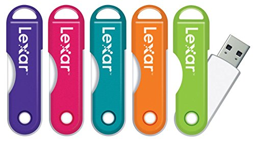 Lexar(R) JumpDrive(R) TwistTurn USB 2.0 Flash Drive, 64GB, Assorted Colors