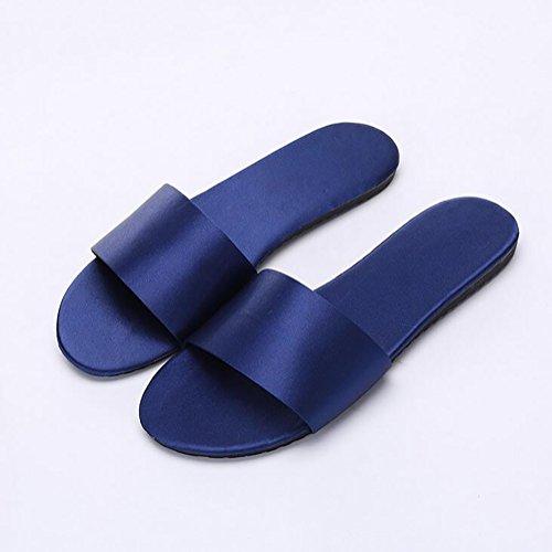 Famille Chaussons Pantoufle Word Été Femmes SHANGXIAN Antidérapant Satin Respirant Purple 39 Plat Aux À Blue Chaussures tqf7qI