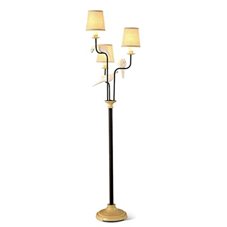 LQQFF Lámpara de pie Simple IKEA pájaro farola salón ...
