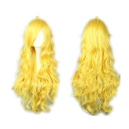 Princess Peach Wig (COSPLAZA Cosplay Wigs Long Curly Wavy Long Yellow Lovely Full Hair For Girls)