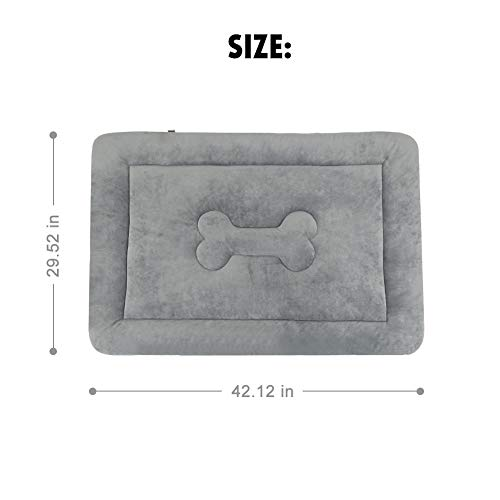 """JoicyCo Large Dog Bed Crate Pad Mat 42"""" Washable Non-Slip Bottom Pet Bed Cat Beds Mattress Kennel Pad"""