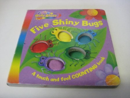 Shiny Five Stars - Five Shiny Bugs (Baby Gold Star Fabric)