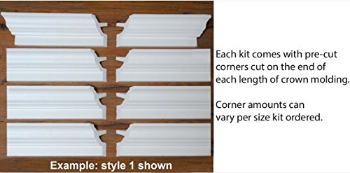 by Austin Crown Molding 80 Ft of 4.5 Angelo Foam Crown Molding Room kit W//precut Corners on end of Lengths 4 Inside /& 1 Out Available in 5 Other Styles and Quantities-See Our Other LISTINGS