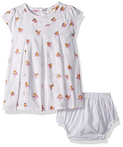 Hatley Baby Girls Mini Birthday Dress, Ballerina Birds, 12-18 Months (Ballerina Dress Onesie)