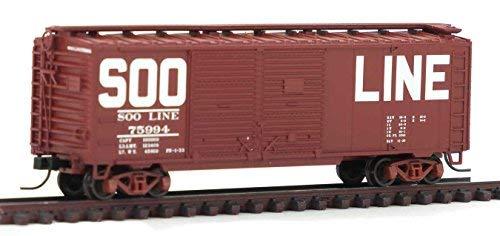0ft Double Door Boxcar SOO Line 75994 – N Scale (40' Double Door Box Car)