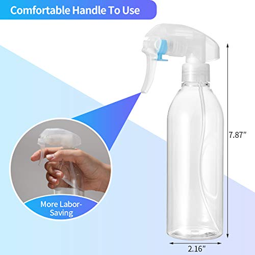 300ml Fine Mist Spray Bottle,Empty Plastic Refillable Spray Bottles Trigger Sprayer for Gardening,Cleaning,Kitchen,Water,Essential Oil(2PCS)