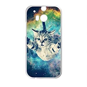 Custom Animal Galaxy Hipster Cat dibujos animados retro Funny Pattern Case For HTC One M8