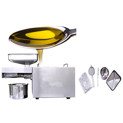 (Enshey Automatic Oil Press Machine 3-6 kg/hr Commercial 304 Stainless Steel Oil Expeller Extractor for Peanut Nuts Sesame Sunflower Linen Aberdeen Walnut Seed with 2 Uses (Hot, Cold))
