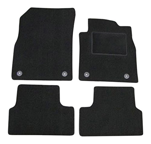 Fully Tailored Deluxe Car Mats in Black. 310mm click