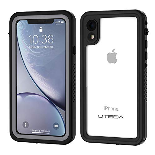 OTBBA iPhone XR Waterproof Case, IP68 Certified Full Body Sealed Waterproof Shockproof Snowproof Dirtproof Underwater Protective Case Compatible for XR (Clear)