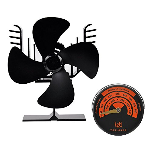 Eagle Shape Heat Powered Eco Fans for Stove Fireplace Wood Log Burners 4 Blades Ultra-quiet with Stove (Eagle Shape)