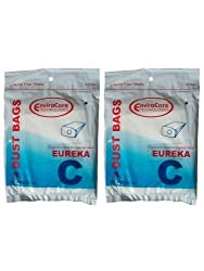 6 Eureka C Allergy Mighty Might canister Vacuum Bags, White Westinghouse, Floorshow Cleaner, Home Cleaning Systm, Commercial Vacuum Cleaners, 52318, 52318-12, 57697-12 Filteraire, 54921-10, 54021-10, VIP 9020, 3015B , 3035A , 3035B , 3035D, 3020BE,S3191B