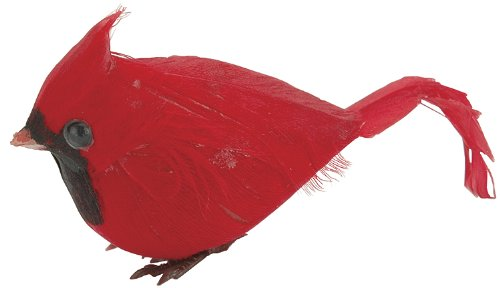 (Darice Red Fat Cardinal Feathered Bird,)