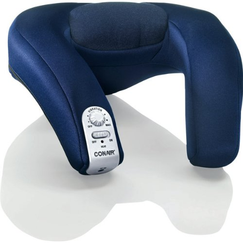 - Conair Heated Massaging and Neck Rest NM8X -Blue & Silver