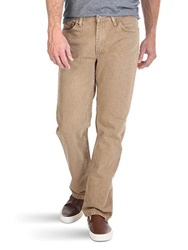 Wrangler Authentics Men's Classic 5-Pocket Regular Fit Jean,Khaki,38x28 ()