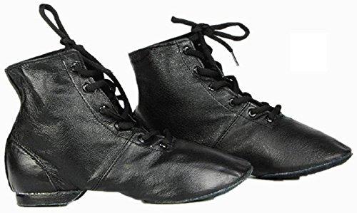 Cheapdancing Men's Practice Dancing Shoes Soft Leather Flat Jazz Boots (8 D (M) US / 41 EU)