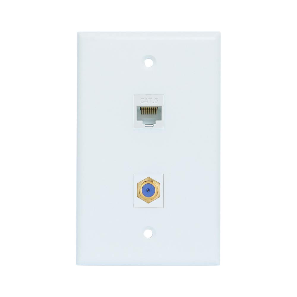 Wiring A Ethernet Coaxial Wall Plate - Wiring Diagram Options