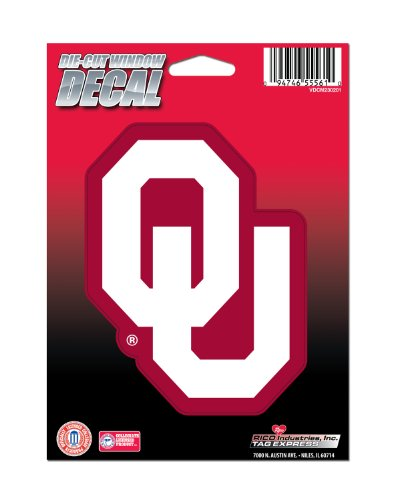 NCAA Oklahoma Sooners Die Cut Vinyl Decal with Backing