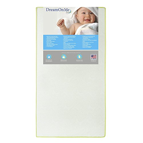 Dream On Me 2 in 1 Foam Core Crib and Toddler Bed Mattress, Little Butterflies, 6'' by Dream On Me
