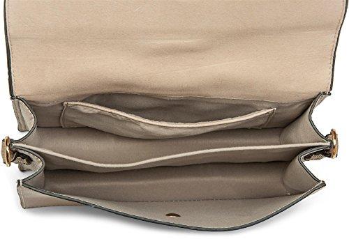 Mano De Señora Aplicación 02012157 Bolso Stylebreaker Tapa Clutch Crema Mano Cremallera Hebilla bolso Bolso En Con rojo Y La Bandolera Color AqfEwE5