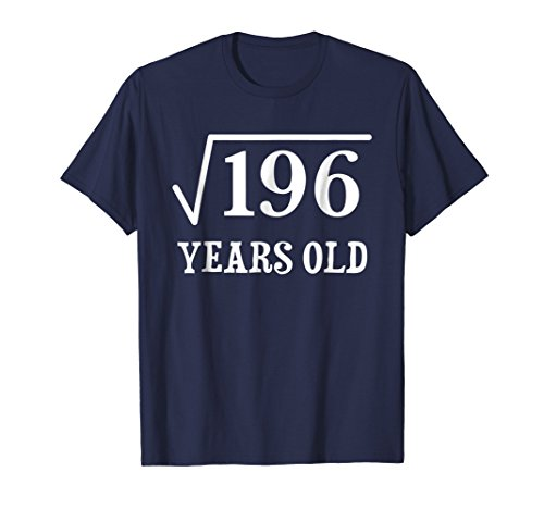 Mens Square Root of 196 14 yrs years old 14th birthday T-Shirt Small - Boy Gifts Year Old 14