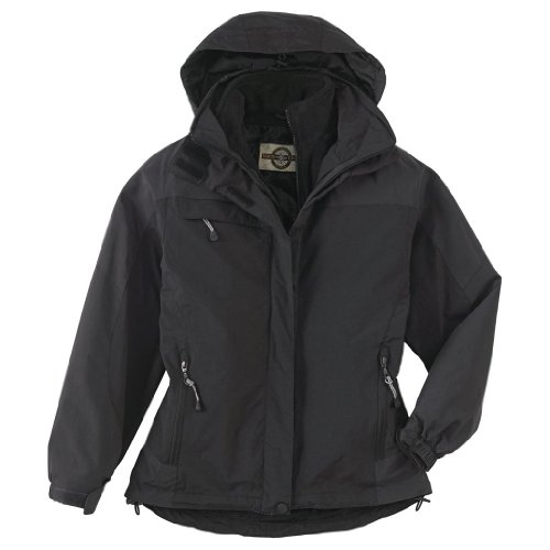 Ash City Ladies 3-IN-1 Mid-Length Jacket (Medium, Midnight Navy/Blue Gray) by Ash City