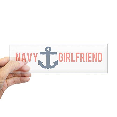 Anchor Navy Girlfriend (CafePress - Navy Girlfriend Anchor - Sticker (Bumper) - 10