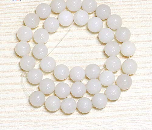 Calvas ZCD 2017 808+++Natural Beijing White Stone Scattered Beads Single - (Item Diameter: - Stone Beijing
