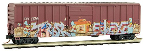 (Micro-Trains MTL N-Scale 50ft Box Car East Erie Commercial/EEC Graffiti #1326)