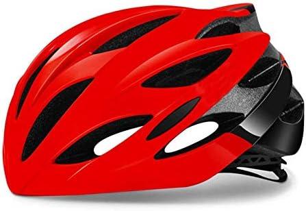Ying-CC ヘルメット ヘルメット自転車サイクリング超軽量サイクリングヘルメットエアーベント通気性のバイクヘルメットマウンテンロード自転車ヘルメットCascosサイクリング機器レッド55Cmx61Cm 自転車