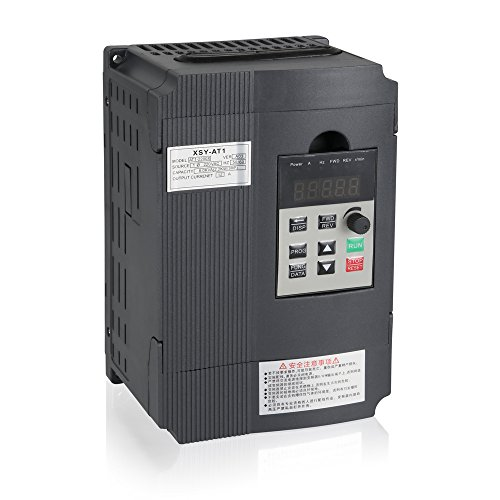 Variable Frequency Drive, MYSWEETY VFD Inverter Frequency Converter 2.2KW 3HP 220V 12A for Spindle Motor Speed Control (VFD-2.2KW) ()